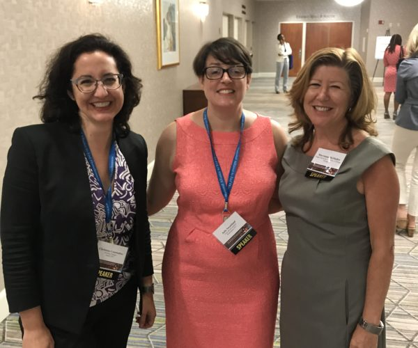 Christena Coutsboubos of Building Changes and Julie Sweetland of the Frameworks institute with Marrianne MacMullen of Chapin Hall.